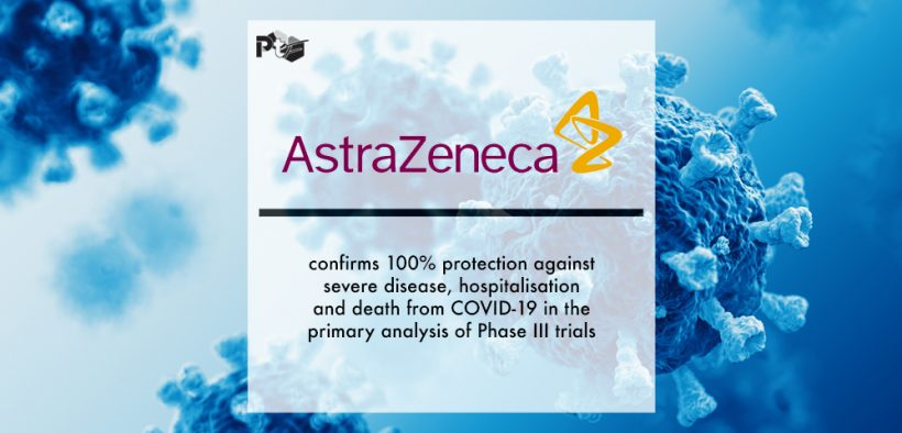 COVID-19 Vaccine AstraZeneca confirms 100% protection against severe disease, hospitalisation and death in the primary analysis of Phase III trials | Pharmtech Focus