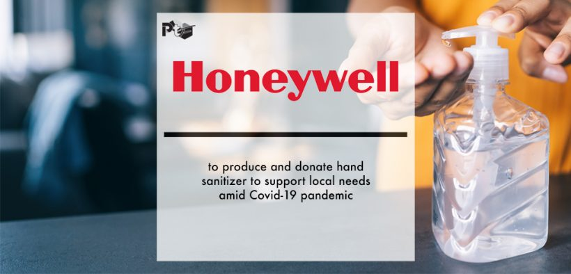 Honeywell to produce and donate hand sanitizer to support local needs amid Covid-19 pandemic | Pharmtech Focus
