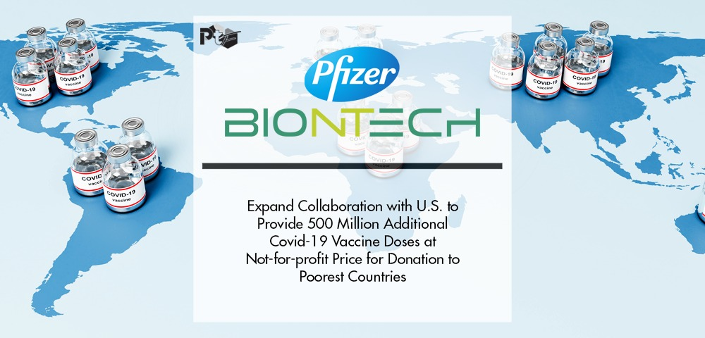 Pfizer and Biontech Expand Collaboration with U.S. To Provide 500 Million Additional Covid-19 Vaccine Doses at Not-for-profit Price for Donation to Poorest Countries | Pharmtech Focus